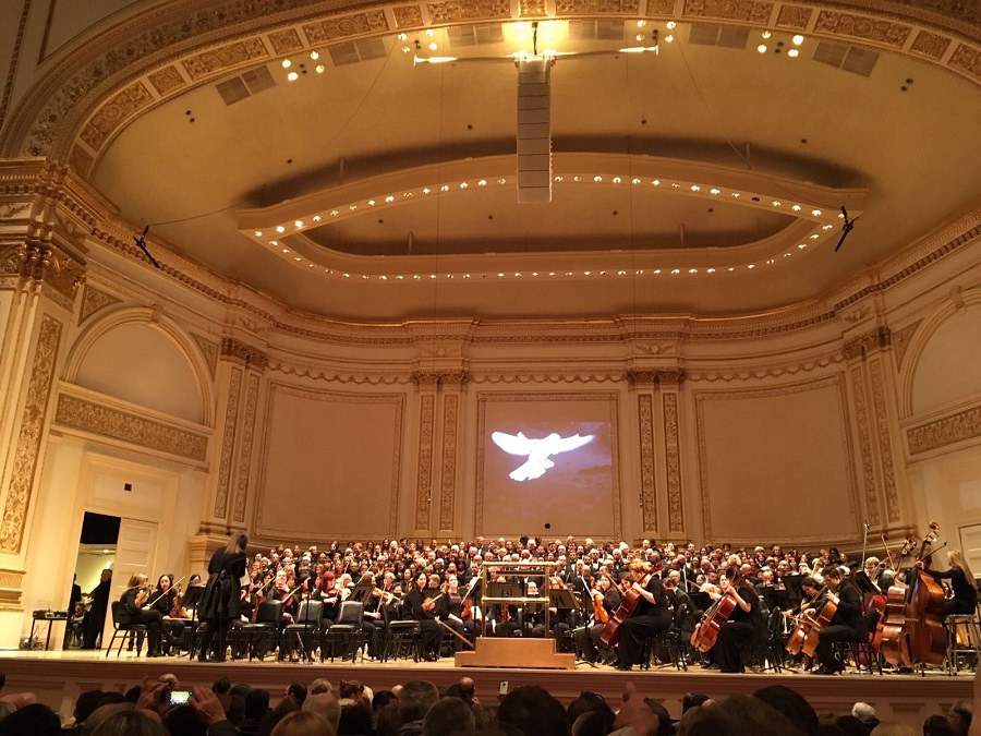 Kirchenchor St. Peter und Paul Winterthur singt in New Yorker Carnegie Hall. FOTO: Krichenchor St. Peter und Paul Winterthur