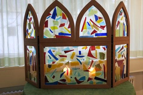 Kirchenfenster Stand Behindertenseelsorge Swiss Handicap