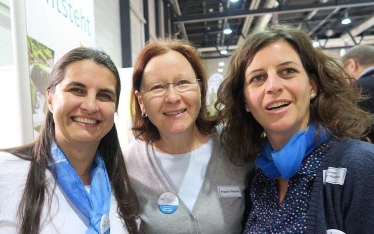 Team der behindertenseelsorge am Stand der Swiss Handicap