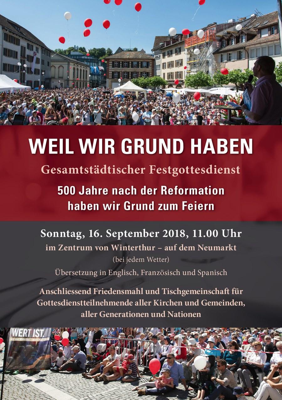 Weil wir Grund haben - bettagsgottesdienst in Winterthur