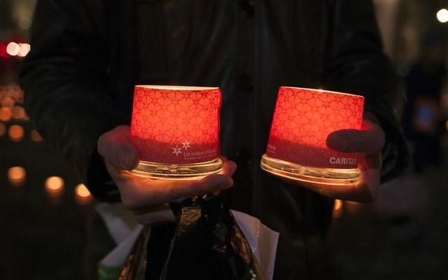Eine Million Sterne: Kerzen leuchten für Armutsbetroffene