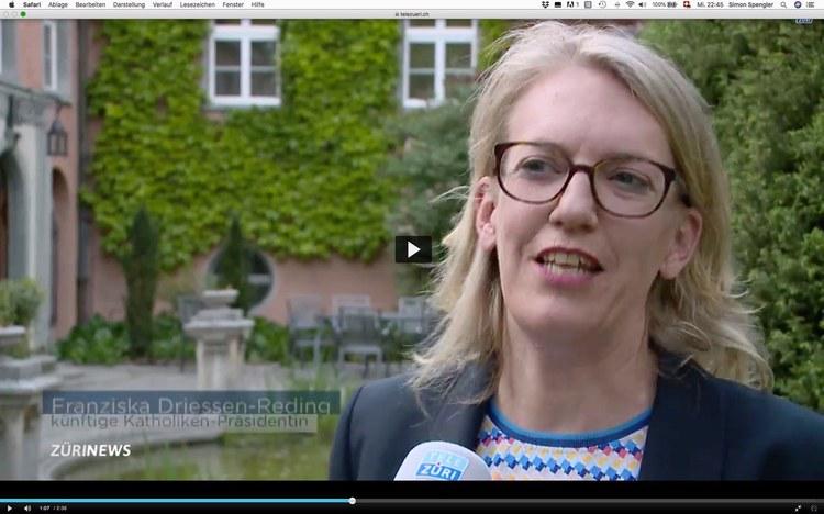 Franziska Driessen Reding erklärt sich auf TeleZüri