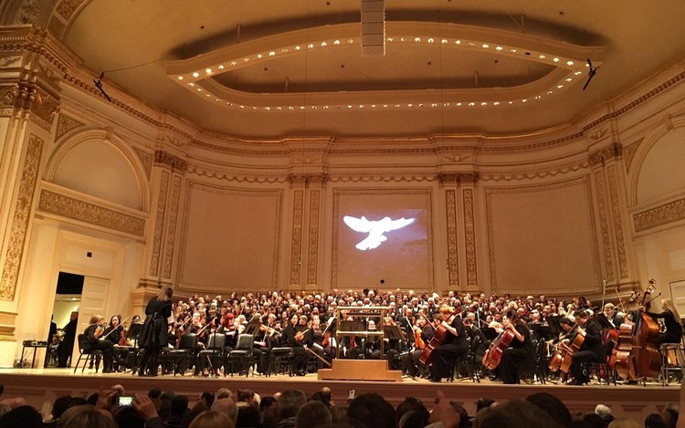 Kirchenchor sang in New Yorker Carnegie Hall
