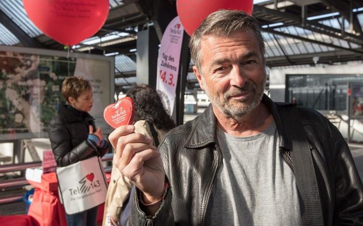 Stefan Gubser im Einsatz für die Dargebotene Hand