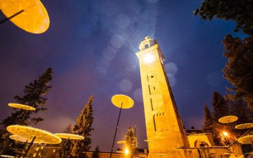 Synodalratspräsident weiht Ski-WM-Lichtinstallation ein