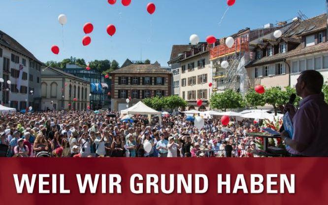 """""""Weil wir Grund haben"""": Festgottesdienst in Winterthur"""