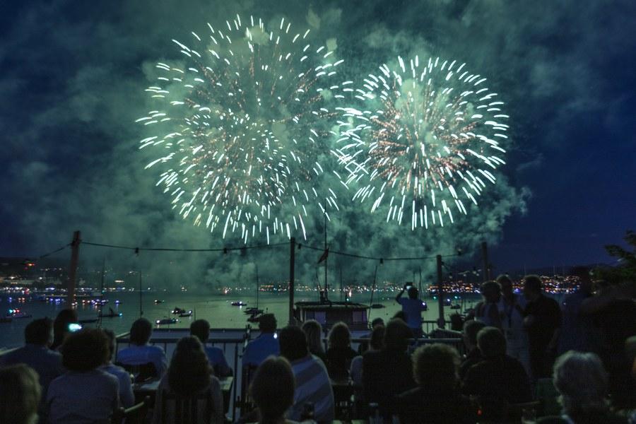 Das Feuerwerk am Samstag