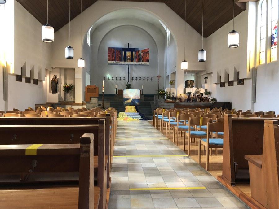 Auch St. Marien Winterthur ist parat für die Pfingstgottesdienste