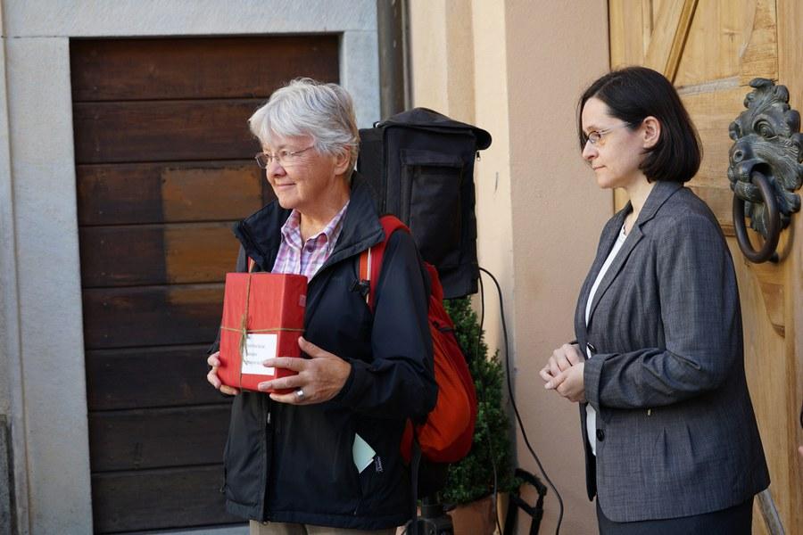 Amanda Ehrler vor Übergabe der Petition