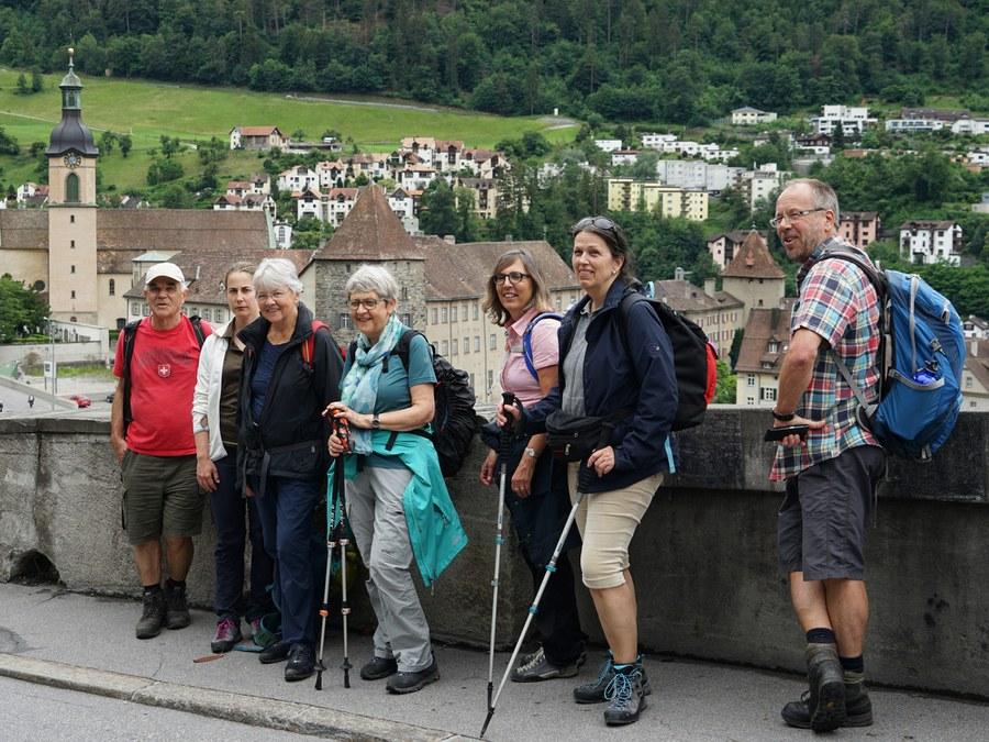 Kurz vor dem Ziel in Chur