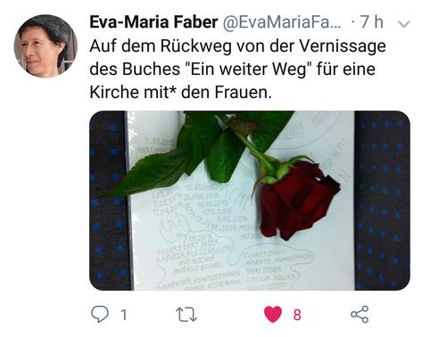 Tweet von Professorin Eva-Maria Faber