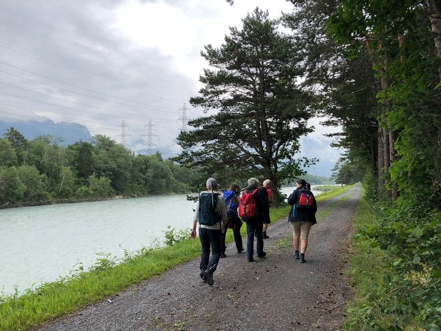 Start zur letzten Etappe kurz nach Bad Ragaz