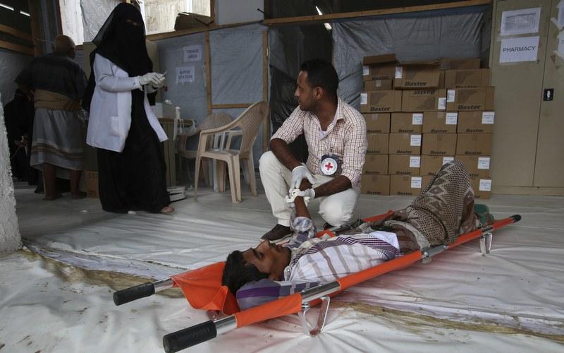 Aden, Al Mansoura Spital: Hier leistet das IKRK medizinische Nothilfe für Verwundete. Foto: Helmi Fahmi