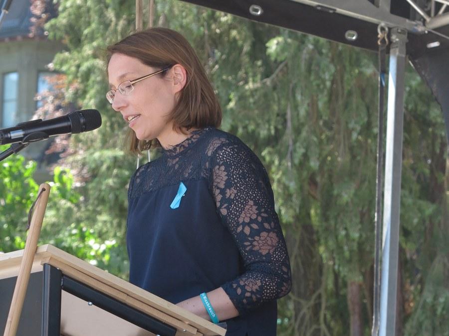 Die ehemalige Nonne Doris Wagner und Missbrauchsopfer berührte mit ihren Worten die Anwesenden.