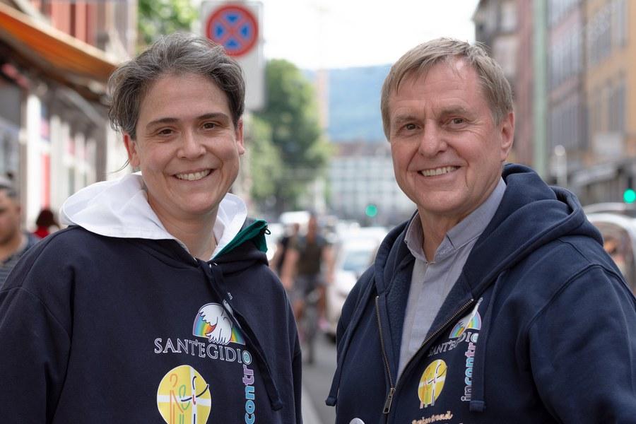 Sr. Ariane und Pfarrer Karl Wolf vom Verein Incontro