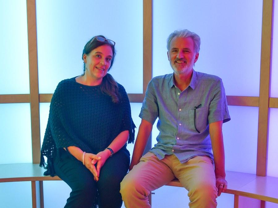 Gestalterpaar martina Vontobel und Bruno Wyrsch. Foto: Sabine Zgraggen
