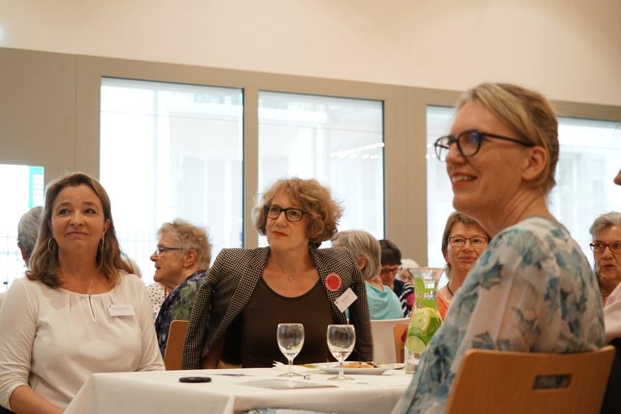 Die ehemalige Nationalrätin Barbara Schmid Federer, Corine Mauch und Franziska Driessen-Reding, Synodalratspräsidentin