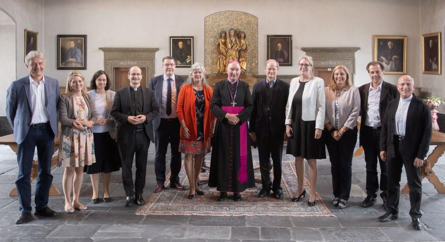 Zürcher Delegation beim Apostolischen Administrator Peter Bürcher