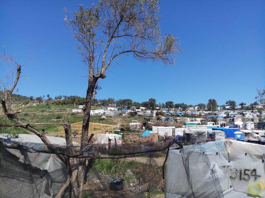 Das Flüchtlingscamp soll in nächster Zeit geräumt werden.