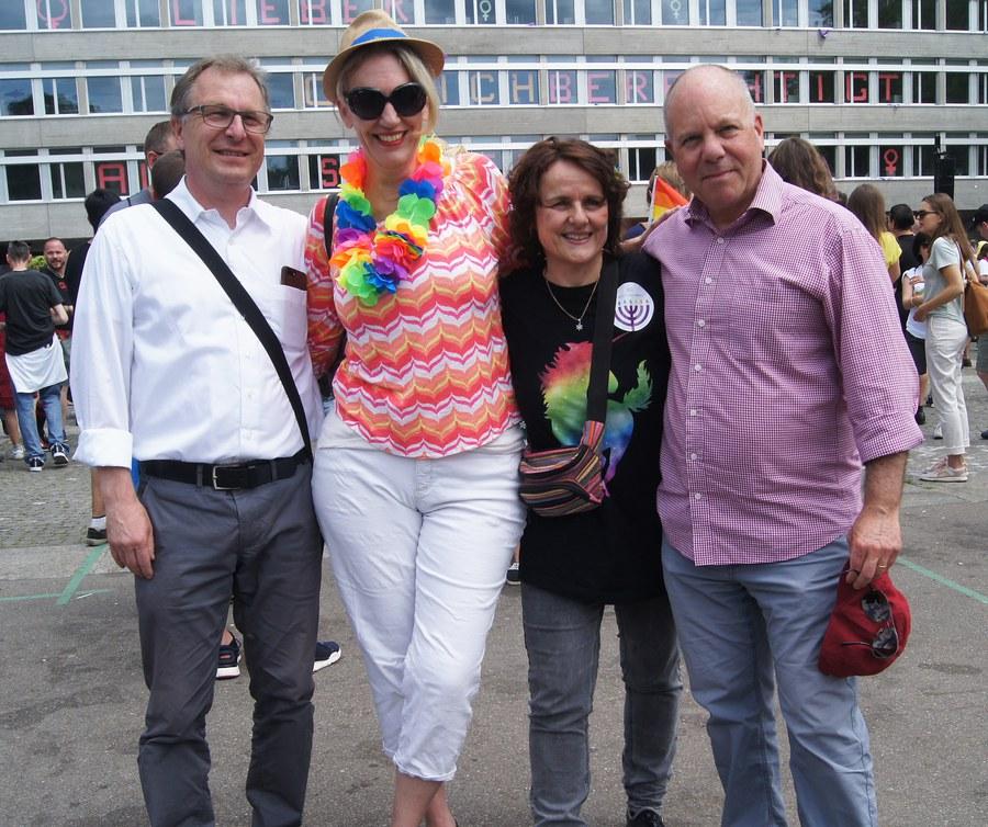 Michel Müller, Franziska Driessen-Reding, Iris Ritzmann und David Feder