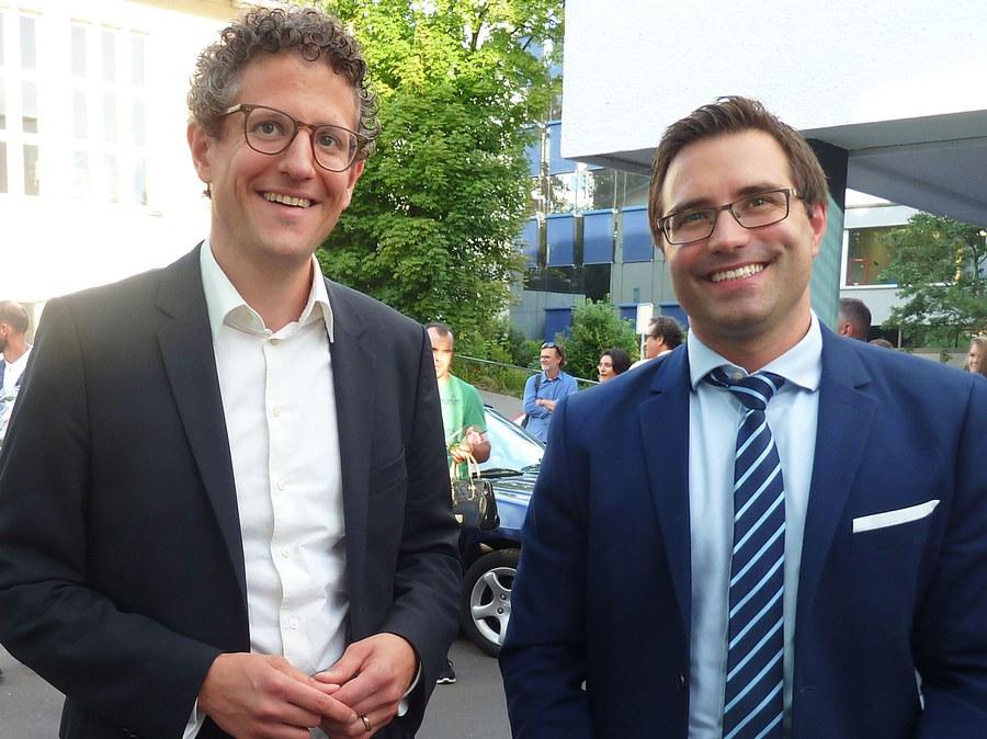Festredner Fabian Etter und Rektor Patrik Fischli.JPG