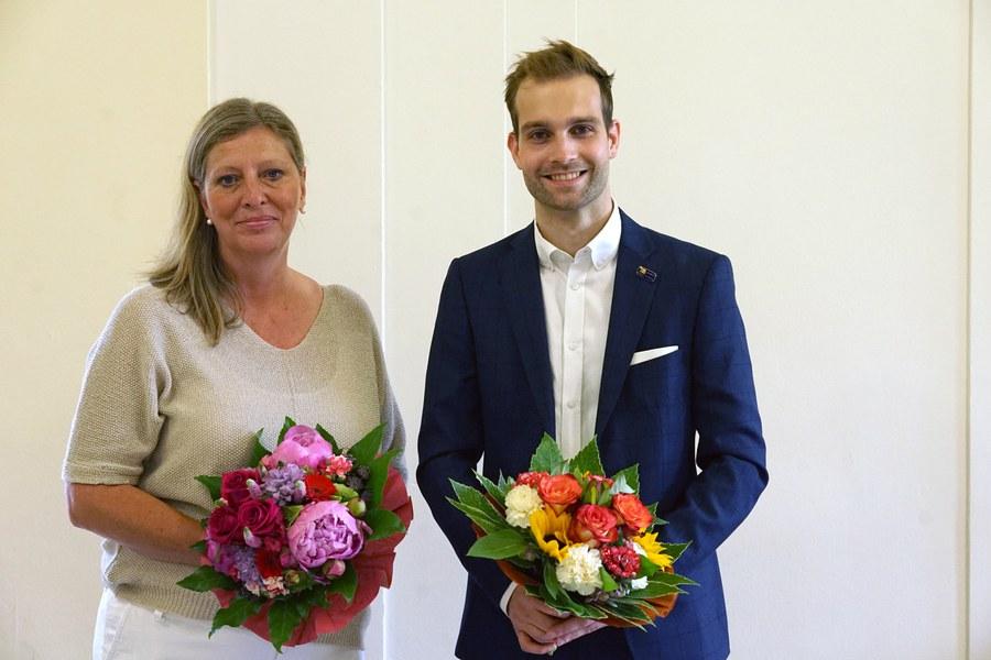 Manuela Broz und Florian Hirschbühl erhielten Ethikpreise
