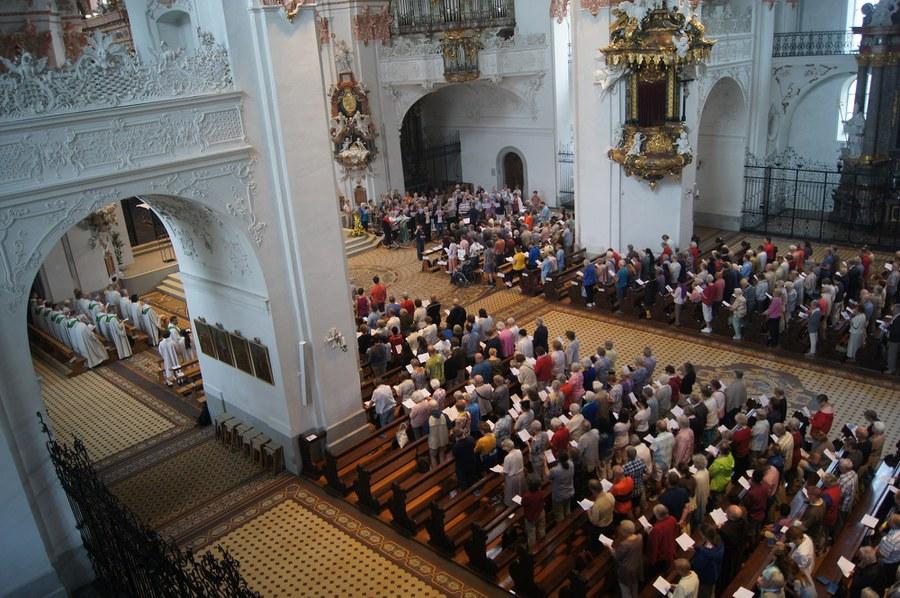 Wallfahrts-Gottesdienst in der Klosterkirche Einsiedeln - Foto Christian Murer
