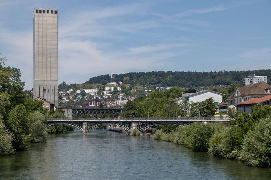 Blick auf den Letten-Viadukt.