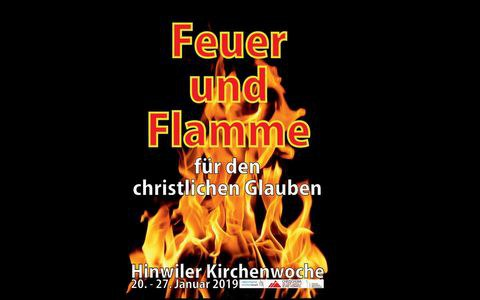 Feuer und Flamme für den christlichen Glauben