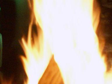 Osterfeuer als Grund zum Dank