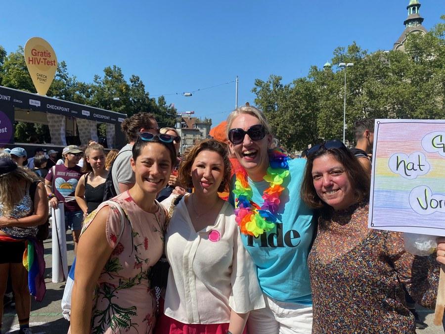 Zurich Pride  P. Schwendimann, ISabel Vasques, Franziska Driessen Frau Frauenbund.jpg
