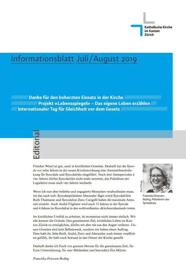 Informationsblatt Juli / August 2019