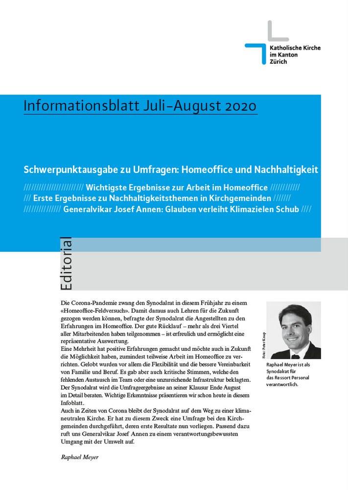 Informationsblatt Juli-August 2020