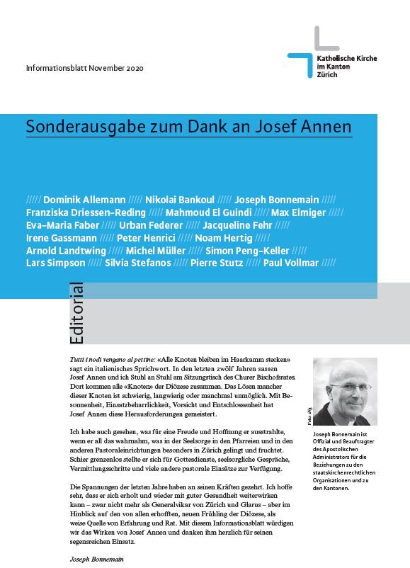 Sonderausgabe zum Dank an Josef Annen - Infoblatt November